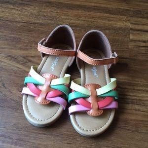 Cat & jack multi colored sandals size 8